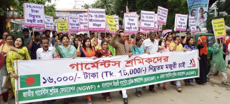 16.000 Taka und nicht weniger: Arbeiter*innen in Bangladesch protestieren seit Monaten für einen gerechteren Mindestlohn