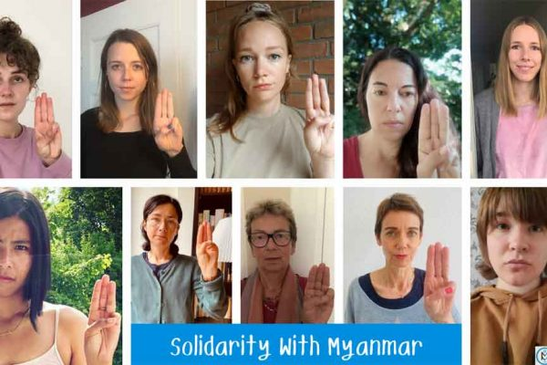 Auf Twitter: Solidarität mit Myanmar